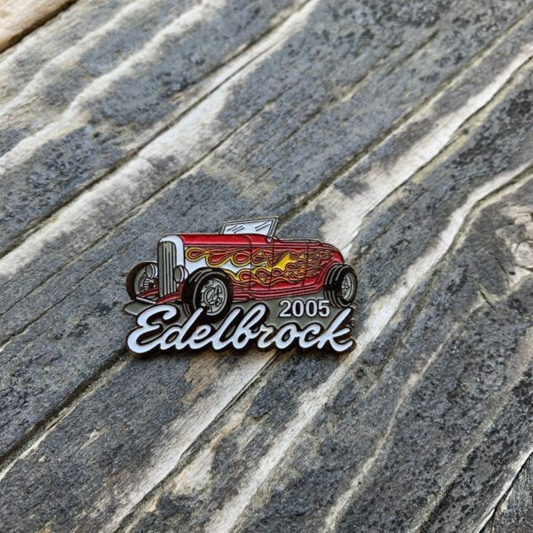 product details: EDELBROCK HOT ROD RACING ENAMEL PIN photo