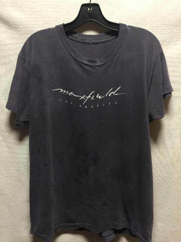 product details: SUPER SOFT VINTAGE MAXFIELD LOS ANGELES TSHIRT SINGLE STITCHED photo