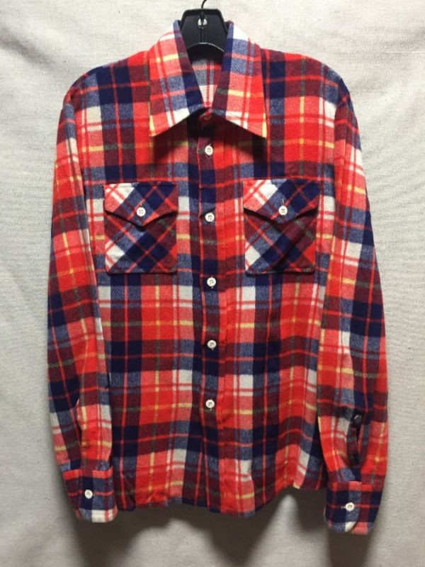 product details: 1970S SUPER SOFT VIBRANT COLORED FLANNEL SHIRT  AS IS photo