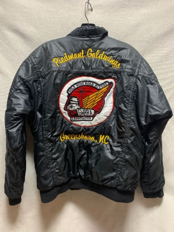 product details: PUFFY MOTORCYCLE RACER JACKET PIEDMONT GOLDWINGS ROAD RIDERS GREENSBORO NC photo