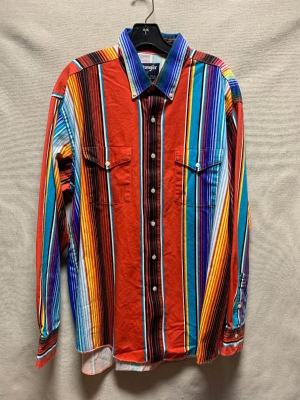 product details: MEXICAN SERAPE PATTERN WRANGLER SHIRT photo