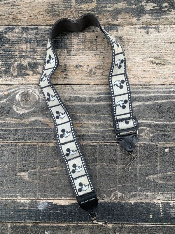 product details: MICKEY MOUSE FILM REEL PRINT CAMERA STRAP AS-IS photo