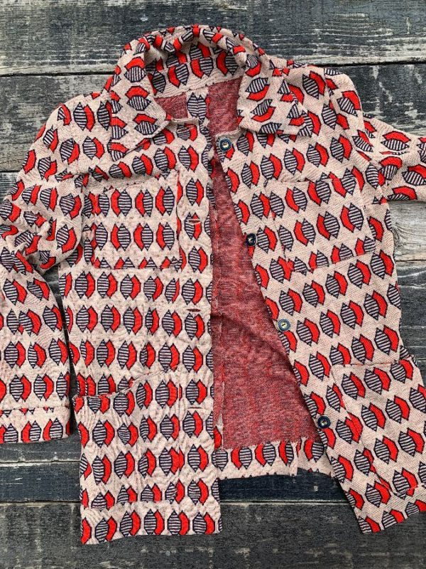 product details: RETRO 1970S FUNKY PRINT BUTTON UP JACKET photo