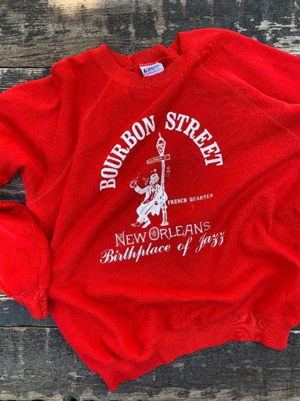 product details: BOURBON STREET NEW ORLEANS CREWNECK SWEATSHIRT photo