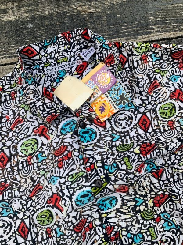 product details: DEADSTOCK WITH TAGS FUNKY GOTCHA ALLOVER PRINT SHIRT photo
