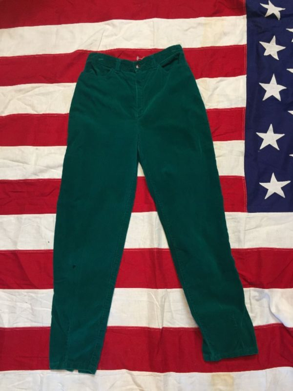 product details: 1980S HIGH WAIST TAPERED LEG CORDUROY PANTS 2-31 photo