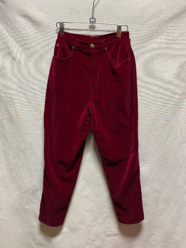 product details: 1980S-90S VELVET TROUSERS TAPERED LEG photo