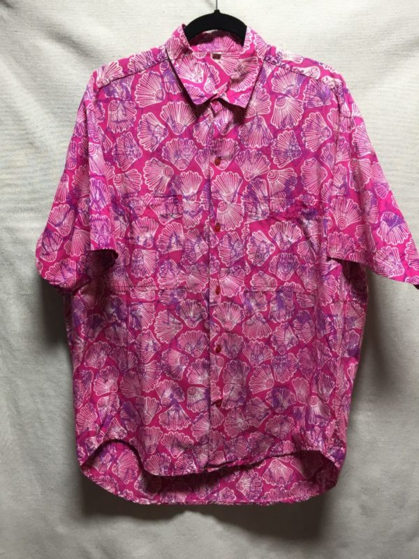product details: 1990S SS BD COTTON HAWAIIAN STYLE SHIRT #BRIGHT! photo
