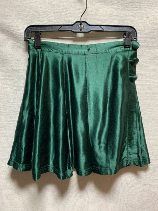 product details: RAD 1980S-90S SILKY FOLD OVER MINI SKIRT SIDE BUTTONS photo