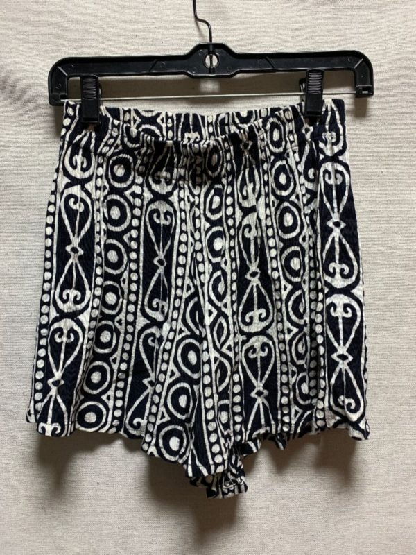 product details: FUNKY 1990S RAYON TRIBAL PRINTED SHORTS ELASTIC WAIST photo