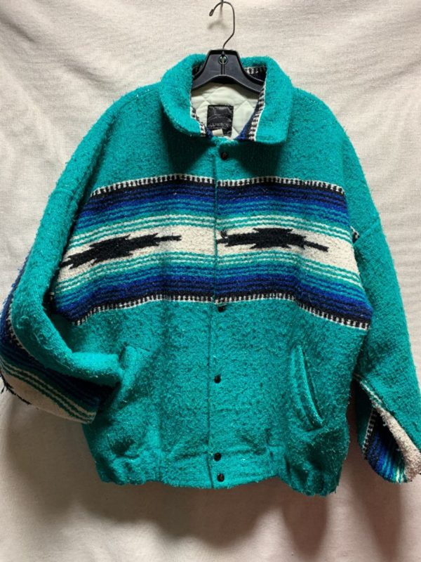 product details: AMAZING 1990S SERAPE TEXTILE BLANKET JACKET photo