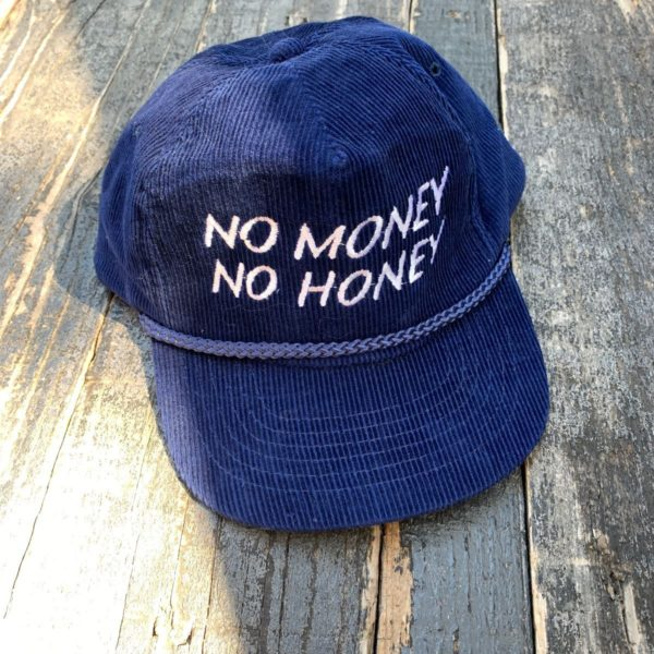 product details: RAD & RARE NO MONEY NO HONEY EMBROIDERED CORDUROY HAT photo