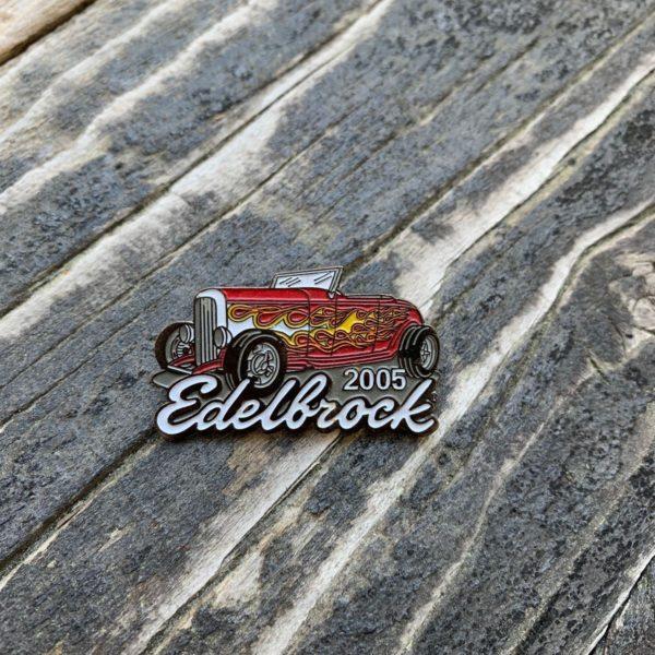 product details: HOT ROD EDELBROCK 2005 ENAMEL PIN photo