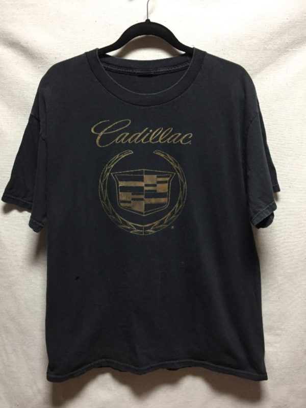 product details: AWESOME METALLIC GOLD CADILLAC EMBLEM LOGO T SHIRT photo