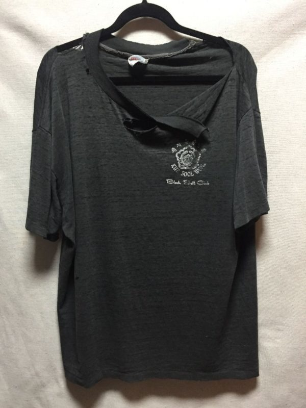 product details: SINGLE STITCHED THRASHED PAPER THIN KUK SOOL WON OF ANDERSON MARTIAL ARTS T SHIRT AS IS photo