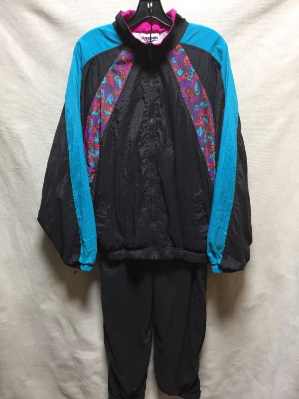 product details: RETRO 1980S-90S FUNKY PRINTED REEBOK 2 PIECE NYLON TRACK SUIT photo