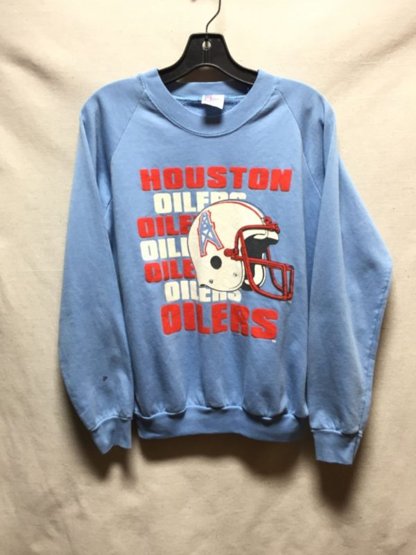 product details: VINTAGE HOUSTON OILERS FOOTBALL CREWNECK SWEATSHIRT photo
