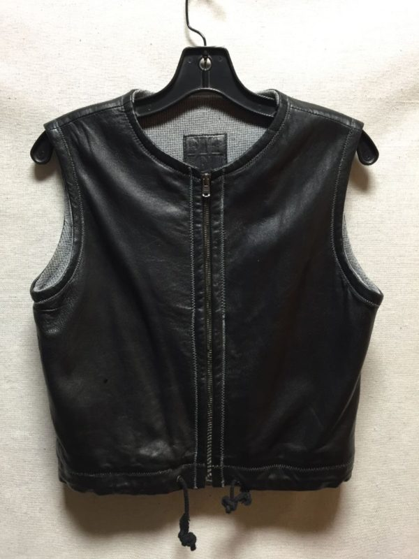 product details: BUTTERY SOFT LAMB LEATHER ZIPUP VEST-TOP WITH THERMAL LINING  AS IS photo