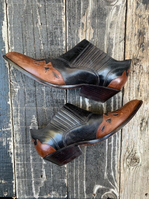 product details: RAD TWO TONE STITCHED LEATHER WESTERN STYLE WINKLEPICKERS photo