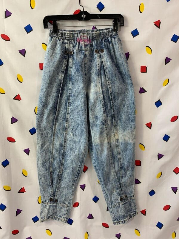 product details: 1980S ACID WASH DENIM JEANS ELASTIC WAIST photo