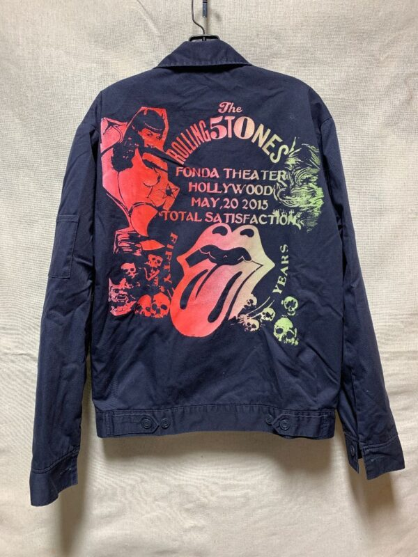 product details: CANVAS WORK WEAR JACKET THE ROLLING STONES FONDA THEATER LOS ANGELES MAY 20TH 2015 *LOCAL ARTIST photo