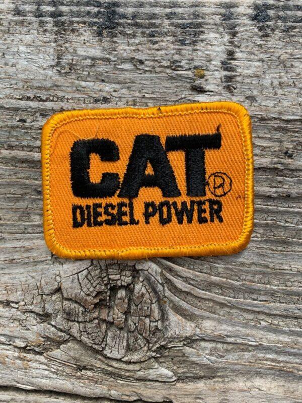 product details: VINTAGE CAT DIESEL POWER LOGO PATCH photo