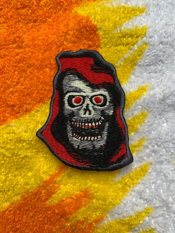 product details: VINTAGE SKELETOR EMBROIDERED IRON-ON OR SEW-ON PATCH photo