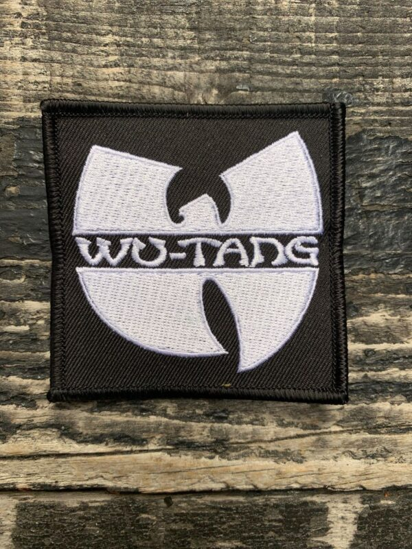 product details: CLASSIC WU TANG EMBLEM EMBROIDERED IRON-ON OR SEW-ON PATCH photo