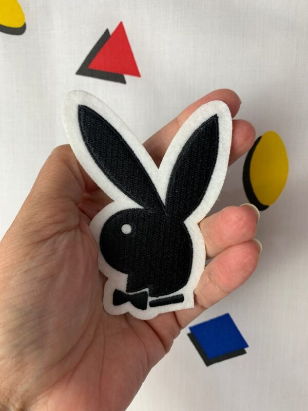product details: CLASSIC PLAYBOY BUNNY EMBROIDERED IRON-ON OR SEW-ON PATCH photo