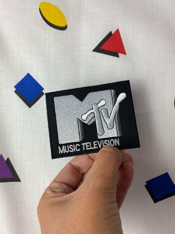 product details: MTV PATCH CLASSIC LOGO PATCH EMBROIDERED IRON-ON OR SEW-ON photo