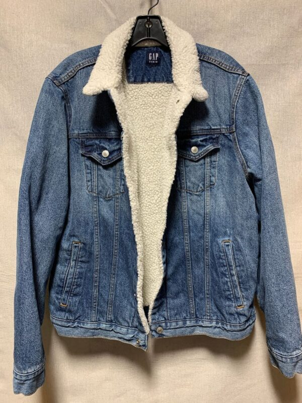 product details: BASIC GAP BRAND DENIM SHERPA JACKET photo