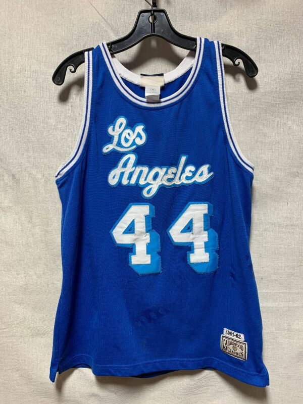 product details: THROWBACK NBA LOS ANGELES LAKERS BASKETBALL JERSEY #44 WEST AS-IS photo