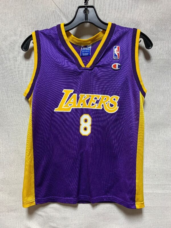 product details: RETRO NBA LOS ANGELES LAKERS #8 BRYANT SMALL FIT photo