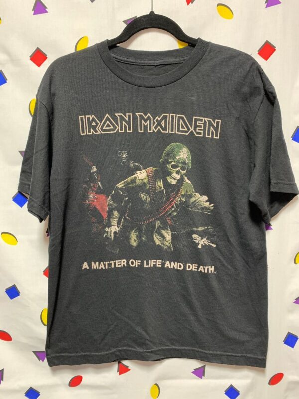 product details: TSHIRT IRON MAIDEN A MATTER OF LIFE & DEATH photo