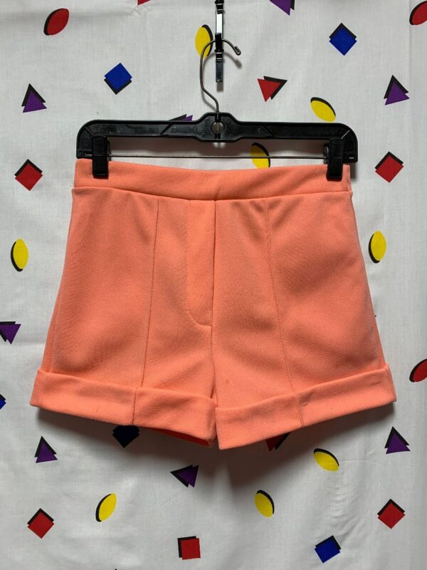 product details: RETRO STRETCHY PEACH CUFFED SHORTS AS-IS photo