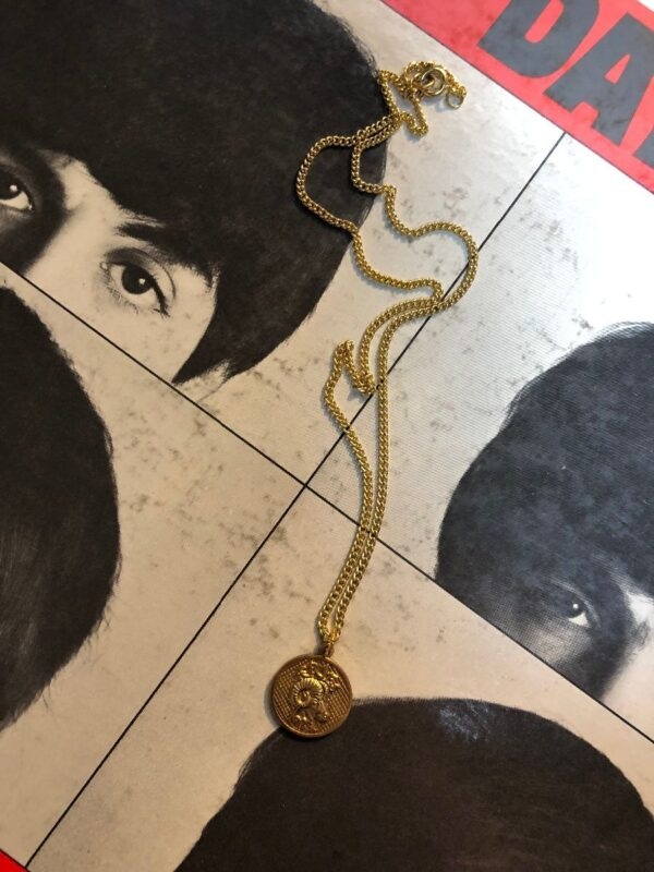 product details: ARIES ZODIAC MEDALLION PENDANT WITH DAINTY LINK CHAIN photo