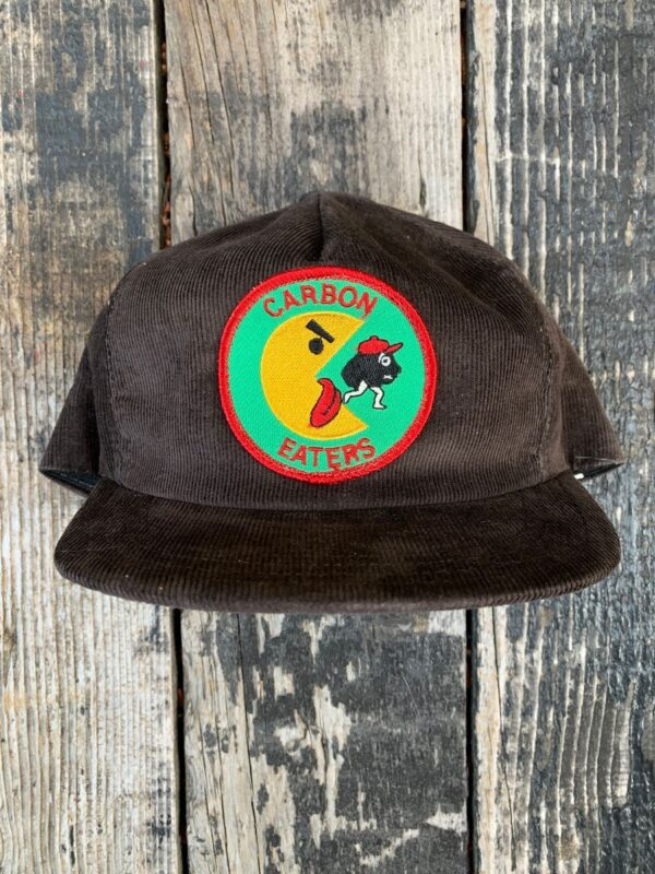 product details: AWESOME RETRO CORDUROY SNAPBACK HAT CARBON EATERS PATCH photo
