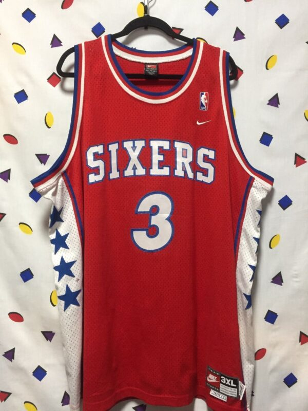 product details: NBA PHILADELPHIA 76ERS #3 IVERSON BASKETBALL JERSEY AS-IS photo