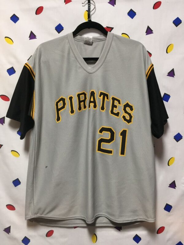 product details: MLB PITTSBURGH PIRATES #21 CLEMENTE BASEBALL JERSEY AS-IS photo