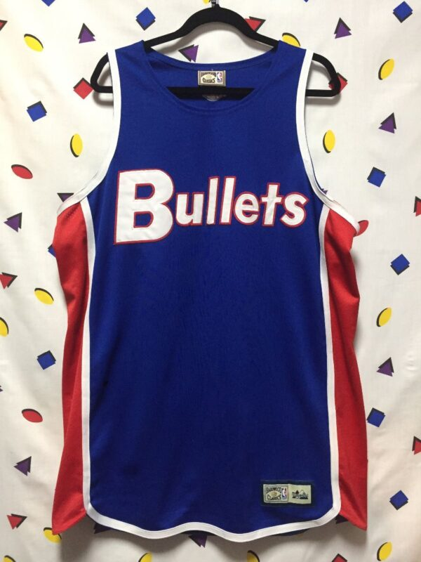product details: THROWBACK NBA WASHINGTON BULLETS BASKETBALL JERSEY AS-IS photo