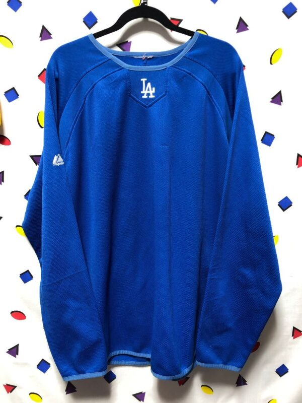 product details: BASIC MLB LOS ANGELES DODGERS LONG SLEEVE WARM UP JERSEY photo