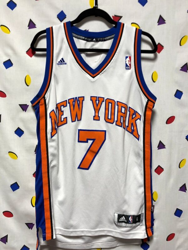 product details: NBA NEW YORK KNICKS #7 ANTHONY BASKETBALL JERSEY STITCHED LETTERS photo