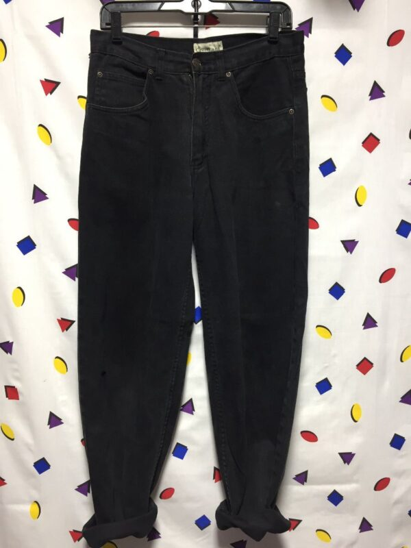 product details: 1990S BLACK BRUSHED DENIM RELAXED FIT JEANS photo