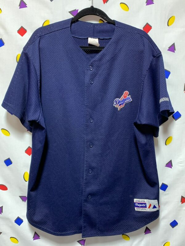 product details: MLB LOS ANGELES DODGERS PRACTICE BUTTON UP BASEBALL JERSEY photo