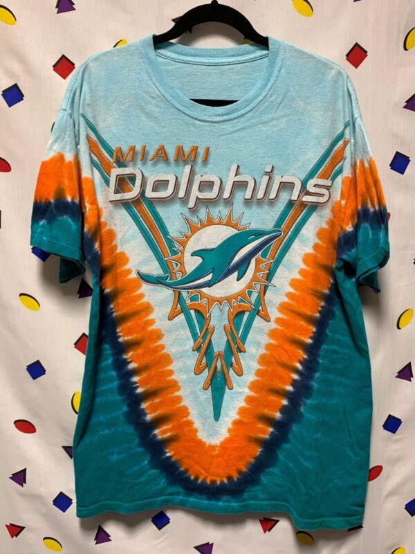 product details: NFL MIAMI DOLPHINS TIE DYE T-SHIRT photo