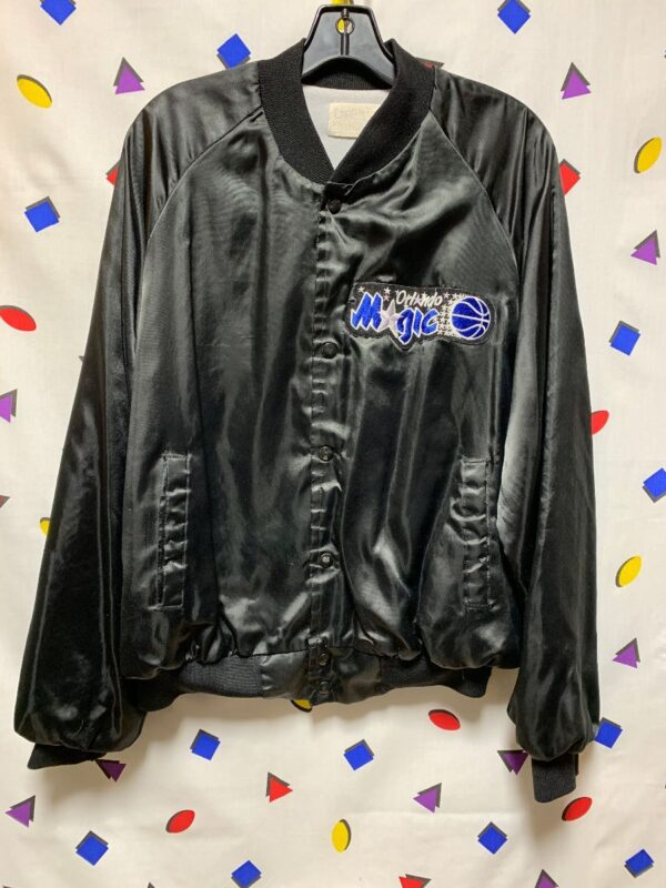 product details: NBA ORLANDO MAGIC SATIN BUTTON UP JACKET AS-IS photo
