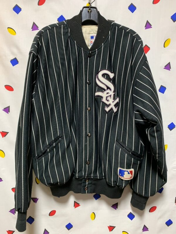 product details: MLB CHICAGO WHITESOX PINSTRIPE BUTTON JACKET AS-IS photo
