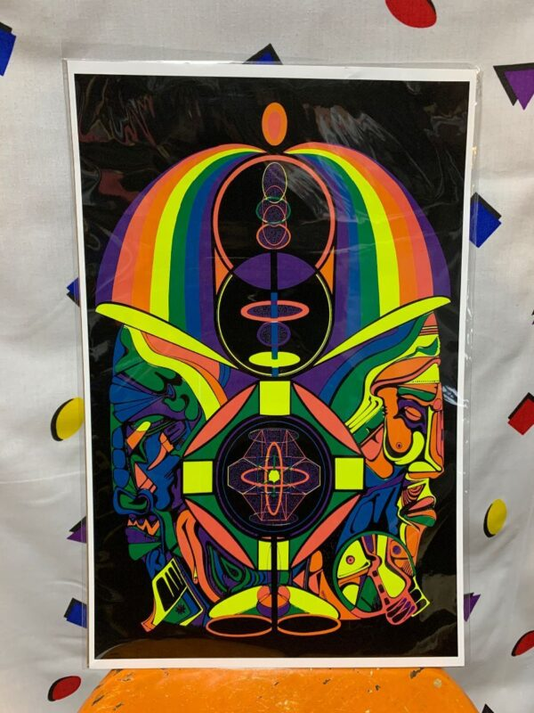 product details: RAINBOW PSYCHEDELIC MIRROR IMAGE POSTER photo