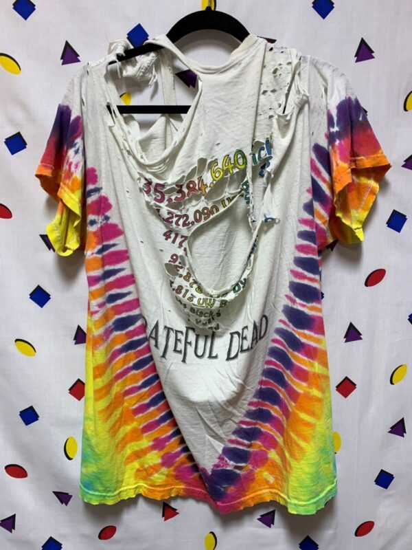 product details: FULLY THRASHED 1996 GRATEFUL DEAD TIEDYE TSHIRT PAPER THIN TATTERED photo