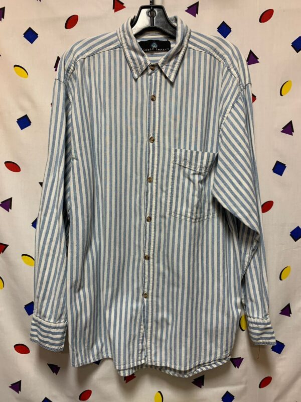 product details: LS BD VERTICAL STRIPED SLEEVE SHIRT photo